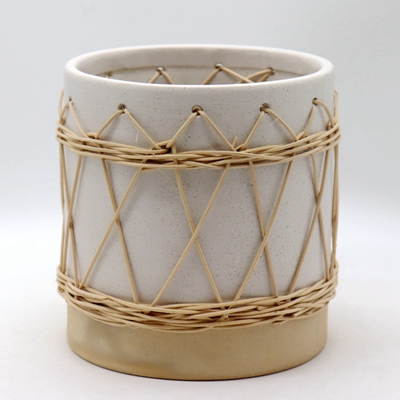 Outdoor Ceramic Woven Planter