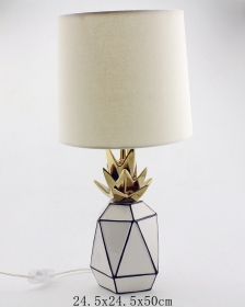 Ceramic Pineapple Hand Painted Table Lamp