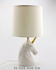 Ceramic Unicorn Lamp